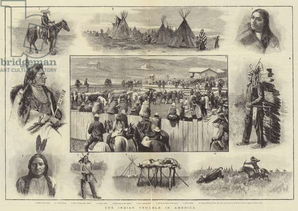 The Indian Trouble in America (engraving)