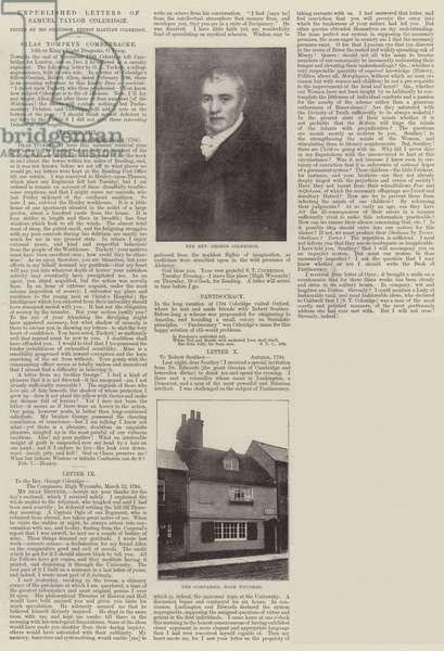Unpublished Letters of Samuel Taylor Coleridge (litho)