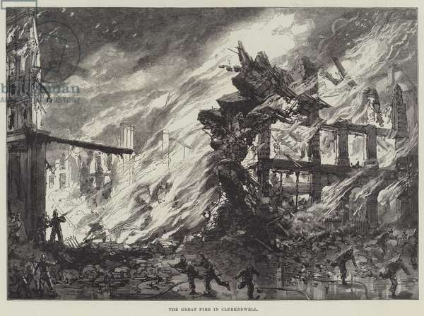 The Great Fire in Clerkenwell (engraving)