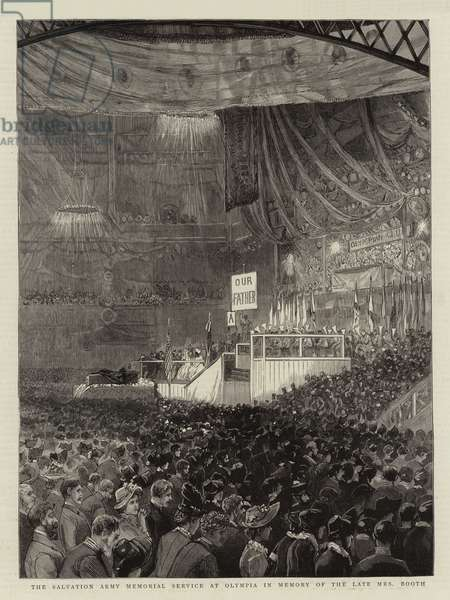 The Salvation Army Memorial Service at Olympia in Memory of the Late Mrs Booth (engraving)