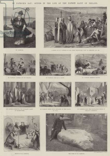 St Patrick's Day, Scenes in the Life of the Patron Saint of Ireland (engraving)