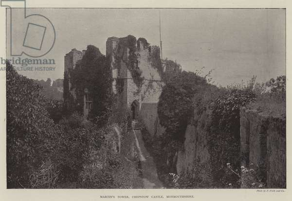 Martin's Tower, Chepstow Castle, Monmouthshire (b/w photo)