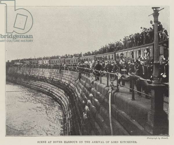 Scene at Dover Harbour on the Arrival of Lord Kitchener (engraving)