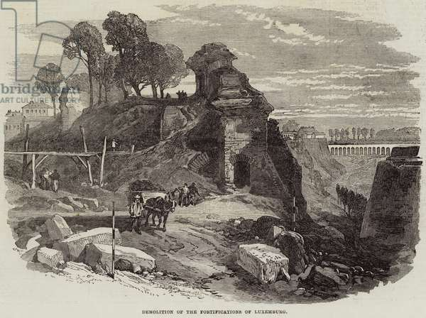 Demolition of the Fortifications of Luxemburg (engraving)