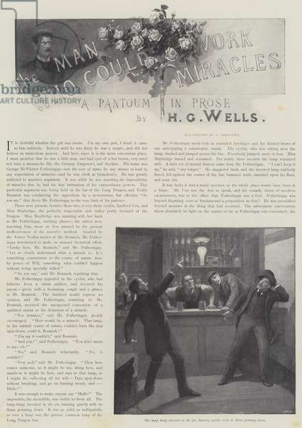 The Man Who Could Work Miracles, by H G Wells (litho)
