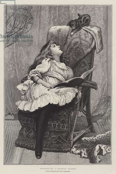 Kittens, Royal Institute Art-Union Exhibition (engraving)