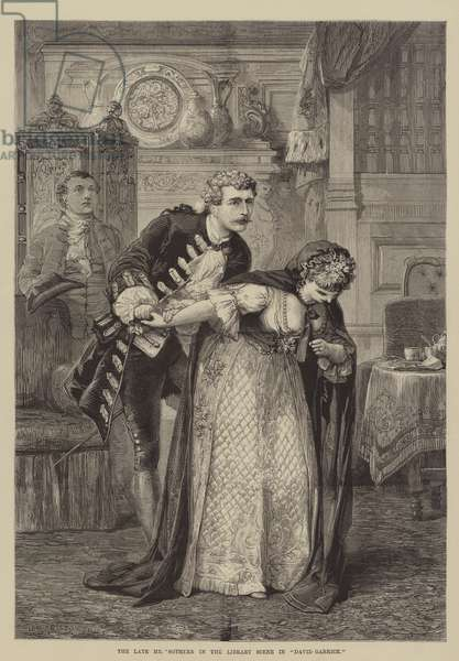 """The late Mr Sothern in the Library Scene in """"David Garrick"""" (engraving)"""