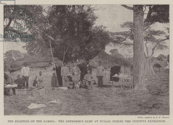 The Fighting on the Gambia, the Governor's Camp at Bullal during the Punitive Expedition (b/w photo)