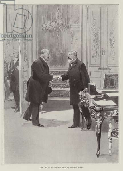 The Visit of the Prince of Wales to President Loubet (engraving)