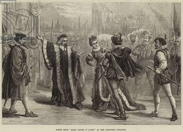 "Scene from ""Mary, Queen of Scots,"" at the Princess's Theatre (engraving)"