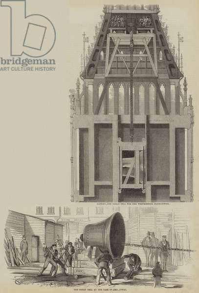 Raising Big Ben (engraving)