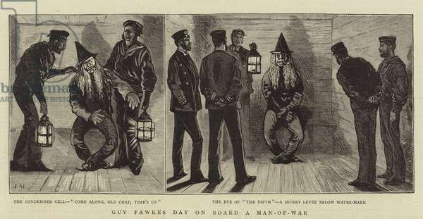Guy Fawkes Day on Board a Man-of-War (engraving)