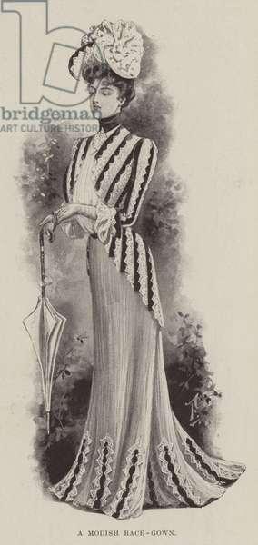 A Modish Race-Gown (litho)