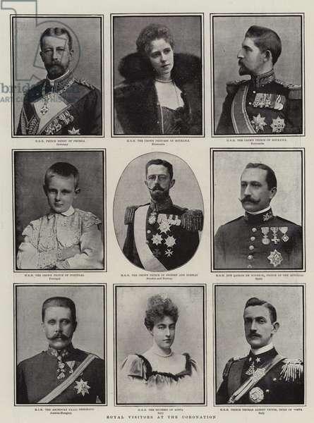 Royal Visitors at the Coronation (b/w photo)
