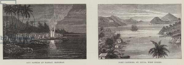 Scenes in the Caribbean (engraving)