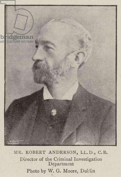 Mr Robert Anderson, LLD, CB (b/w photo)
