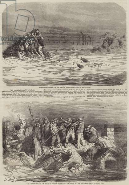 The Inundations in France (engraving)