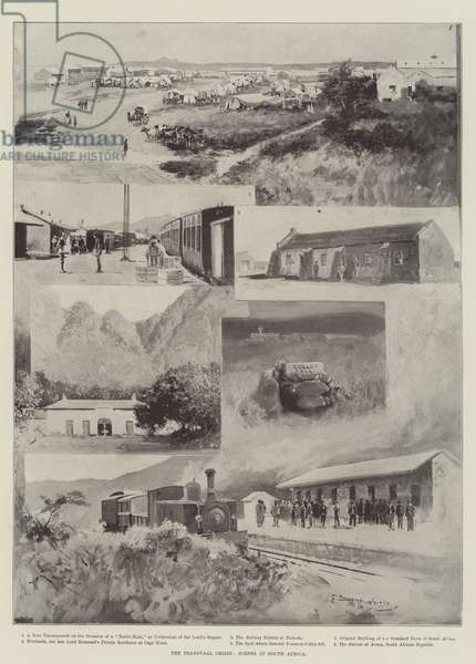 The Transvaal Crisis, Scenes in South Africa (litho)