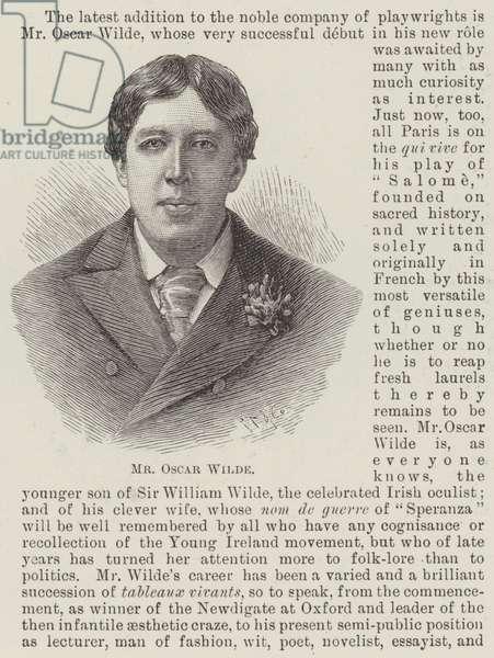 Mr Oscar Wilde (engraving)