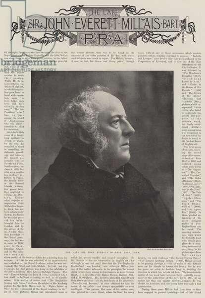 The Late Sir John Everett Millais, Obituaries (b/w photo)