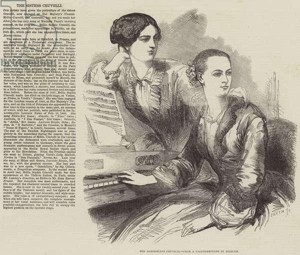 The Demoiselles Cruvelli (engraving)