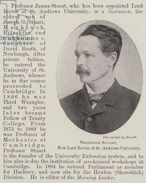 Professor Stuart, New Lord Rector of St Andrews University (b/w photo)
