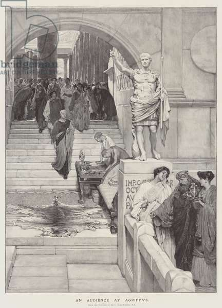 An Audience at Agrippa's (engraving)