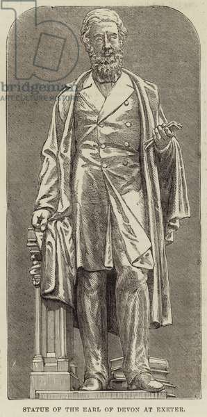Statue of the Earl of Devon at Exeter (engraving)