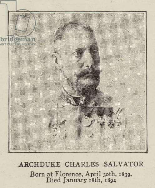 Archduke Charles Salvator (b/w photo)