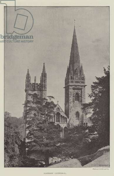 Llandaff Cathedral (b/w photo)