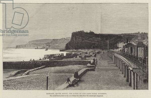 Dawlish, South Devon, the Scene of the late Fatal Accident (engraving)