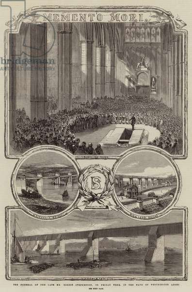 The Funeral of the Late Mr Robert Stephenson, on Friday Week, in the Nave of Westminster Abbey (engraving)