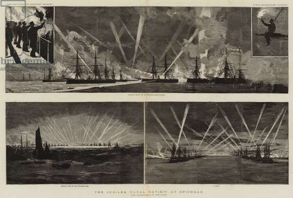 The Jubilee Naval Review at Spithead (engraving)