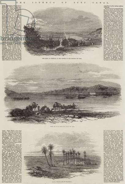 The Isthmus of Suez Canal (engraving)