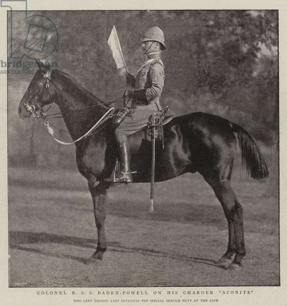 Colonel R S S Baden-Powell on his Charger