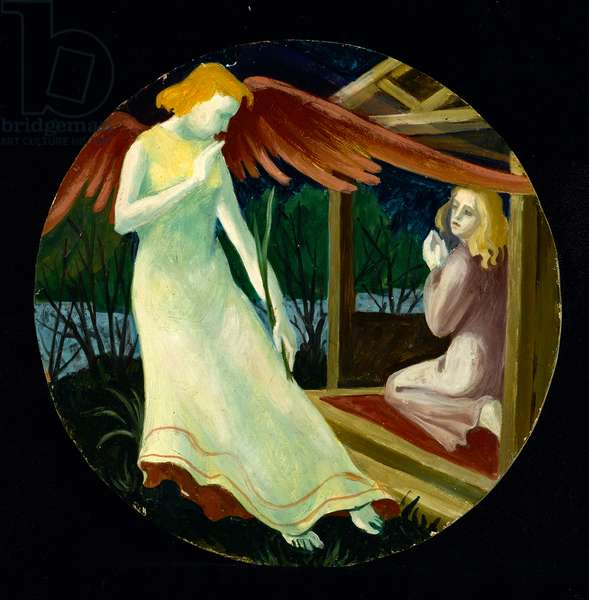 Annunciation, c.1960 (oil on wood)
