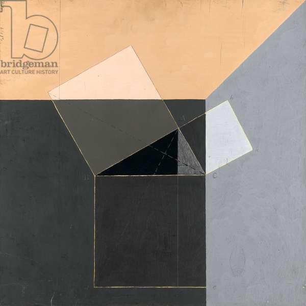 Pythagoras I, 1970 (acrylic on panel)