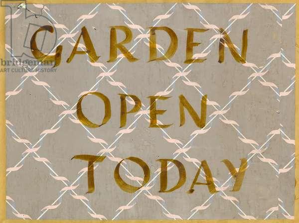 Garden Open Today, c.1950 (w/c & stencilled gouache on paper)