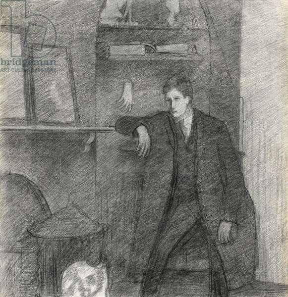 Self Portrait, January 26th, 1914 (black chalk on paper)