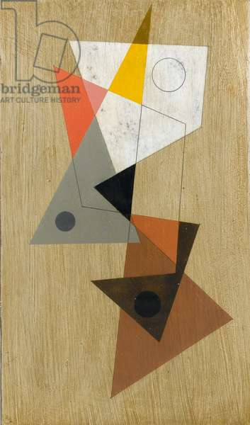 Construction 90, 1990 (alkyd on panel)