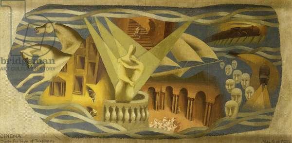 Design for Telecinema Mural, South Bank, 1951 (oil on board)