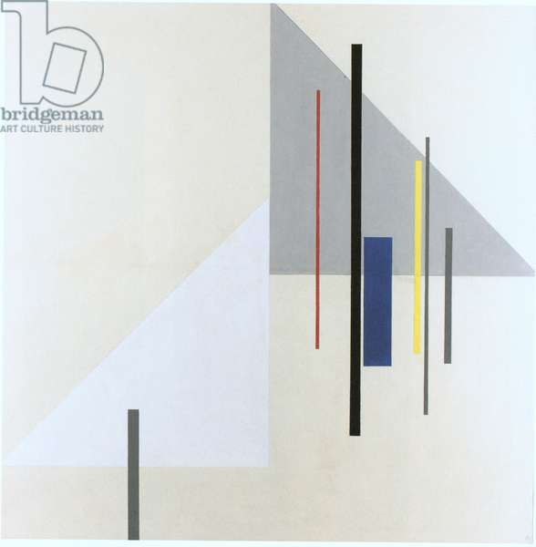 Two triangles (colour litho)