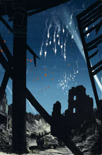 Parachute Flares, c.1941 (oil on canvas)