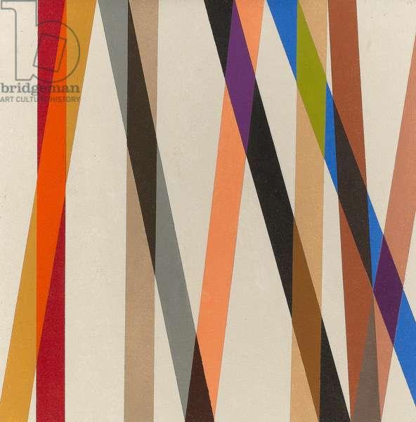 Candy Stripe II, 1987 (oil on panel)