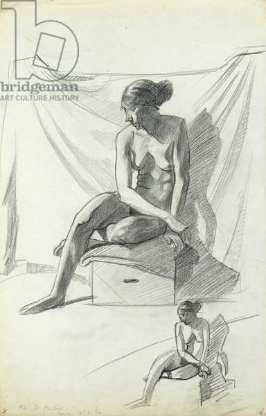 Life Study, at St Martins, 1923-24 (pencil on paper)