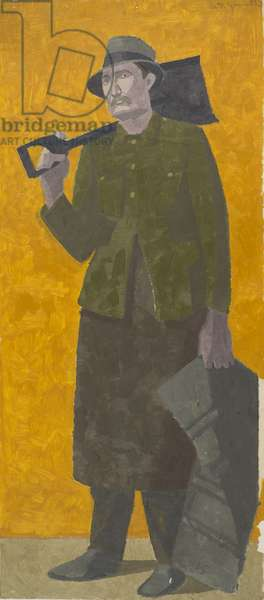 Coal man, c.1920 (oil on paper)