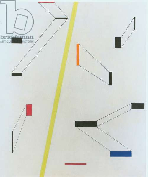 Composition with yellow stripe (colour litho)