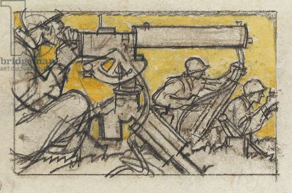 Functions of Combat, c.1945 (charcoal & w/c on paper)
