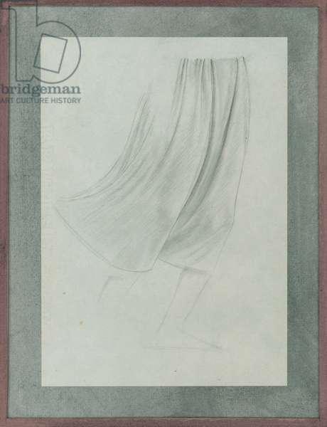 Martin altarpiece, drapery study, c.1928 (pencil on paper)