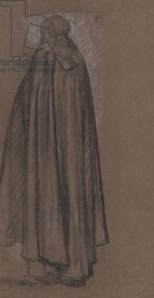 Study of a Monk, full length three-quarter view, Study for St Aidan